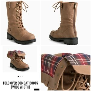 Torrid fold over combat boots WIDE